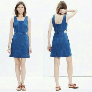 Madewell Denim Cutout Dress Womens size 8